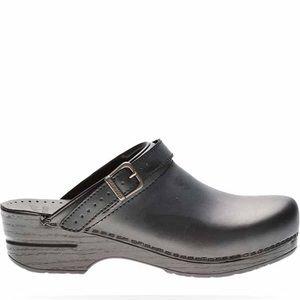 Dansko Ingrid Block Clog Mule Black Leather New